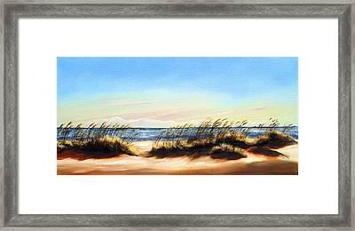 Sea Oats Framed Print by Michele Snell