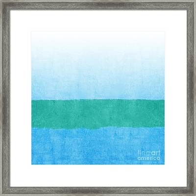 Sea Of Blues Framed Print by Linda Woods
