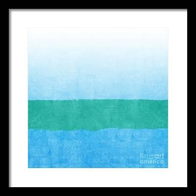 Blue Framed Prints
