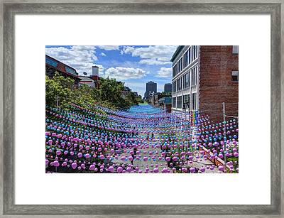 Sea Of Color Framed Print