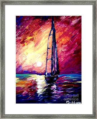 Sea Of Colors Framed Print by Michael Grubb