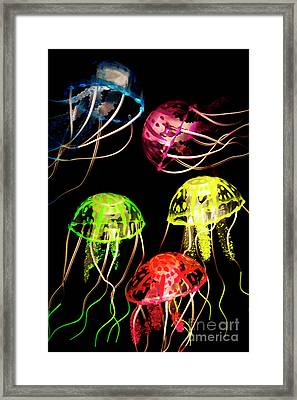 Sea Of Colours Framed Print