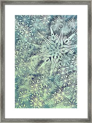 Sea Of Flakes Framed Print
