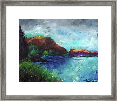 Sea Of Galilee And Mt Arbel Framed Print by Noga Ami-rav