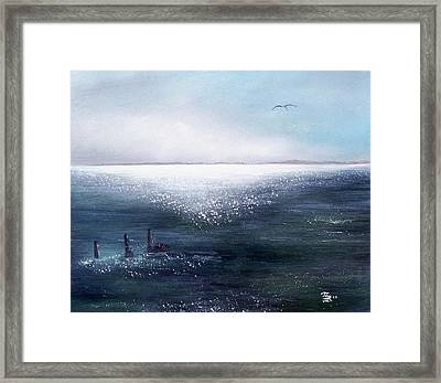 Sea Of  Glass Framed Print by Tony Rodriguez