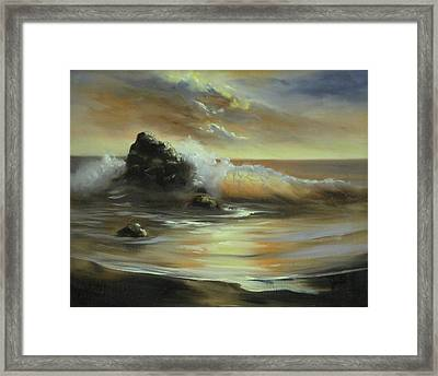 Framed Print featuring the painting Sea Of Gold by Joni McPherson