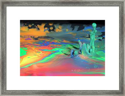 Sea Of Paint Framed Print
