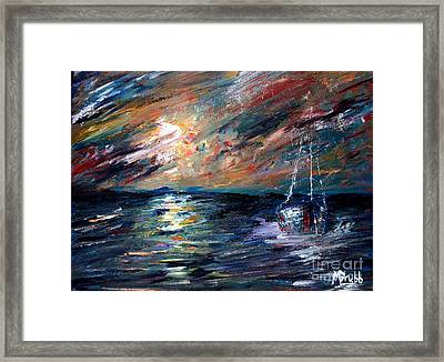Sea Of Storms Framed Print by Michael Grubb
