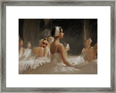 Sea Of White Framed Print by H James Hoff