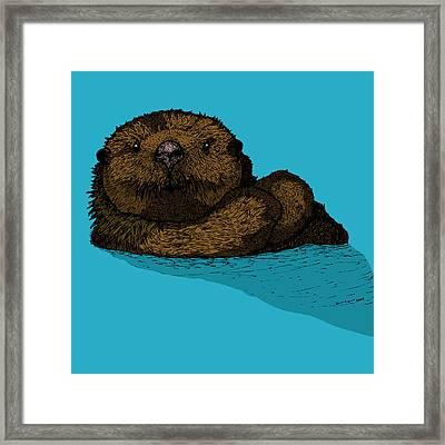 Sea Otter - Full Color Framed Print by Karl Addison