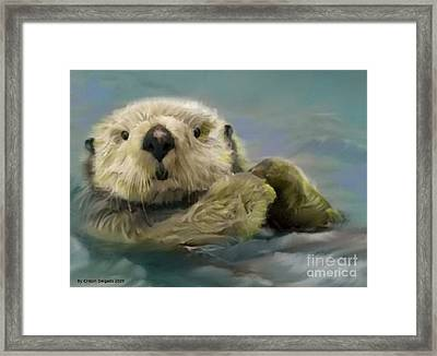 Sea Otter Framed Print by Crispin  Delgado