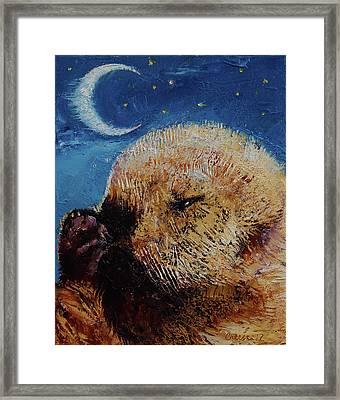 Sea Otter Pup Framed Print