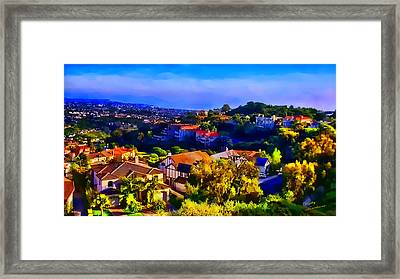 Sea Pointe Estates Framed Print