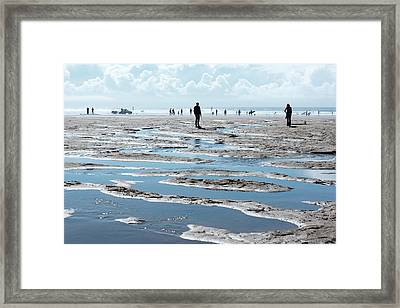 Sea Puddles  Framed Print by Svetlana Sewell