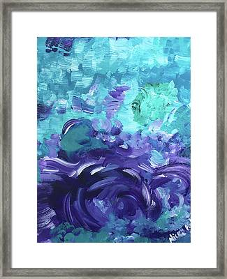 Sea Purple Framed Print