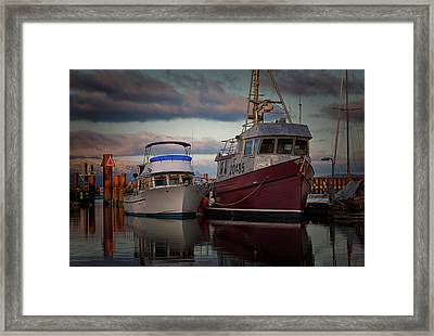 Framed Print featuring the photograph Sea Rake by Randy Hall