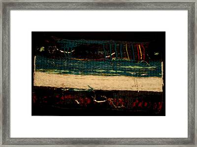 Sea Sand Deep Mystery Framed Print by Aneesha Parrone