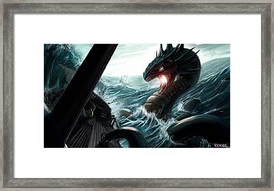 Sea Serpent Framed Print