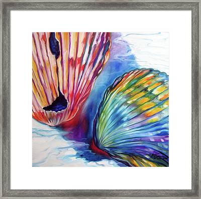 Sea Shell Abstract II Framed Print by Marcia Baldwin