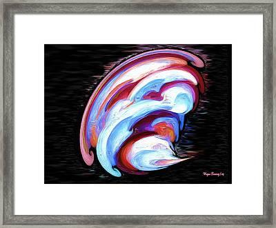 Sea Shell Abstract Framed Print by Wayne Bonney