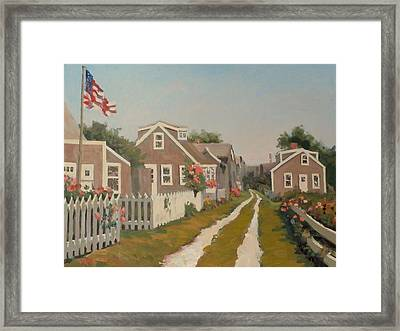 Sea Shell Lane Framed Print