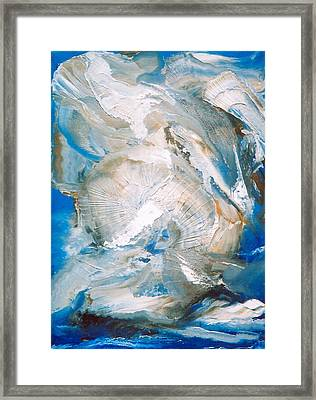Framed Print featuring the painting Sea Shells by M Diane Bonaparte