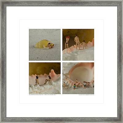 Sea Shells With Preiser Figurines Number Two Framed Print by Rolf Bertram