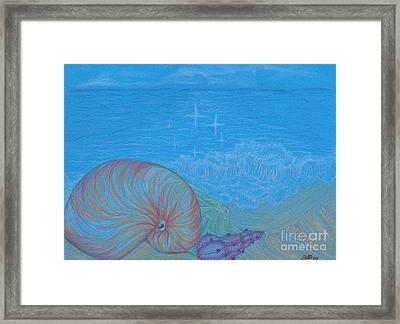 Sea Shore Framed Print by Kim Sy Ok