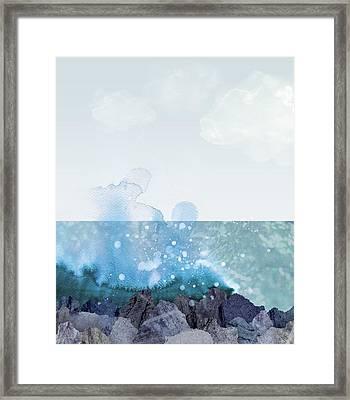Sea Shore Framed Print by Varpu Kronholm