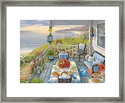Sea Side Inn Framed Print by Janet  Kruskamp