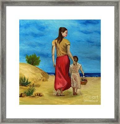 Sea Side Walk After Pino Framed Print by Kostas Koutsoukanidis