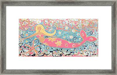 Sea Siren Blondie Framed Print
