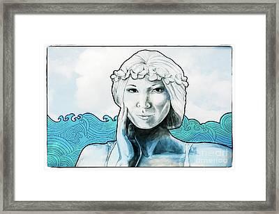 Sea Siren Framed Print by Colleen Kammerer