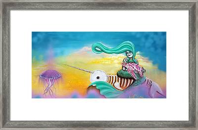 Sea Sky Framed Print by Laura Barbosa