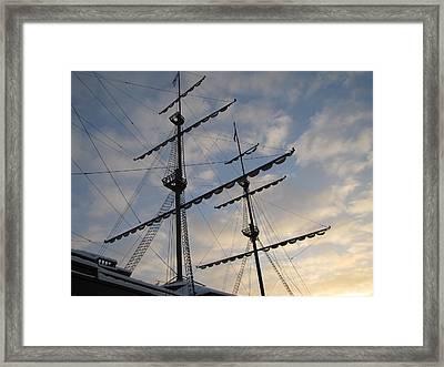 Framed Print featuring the pyrography Sea Sky by Yury Bashkin