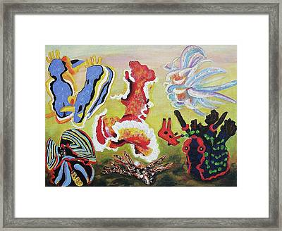 Sea Slugs Framed Print by Suzanne  Marie Leclair