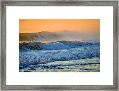 Sea Smoke Sunrise Framed Print by Dianne Cowen