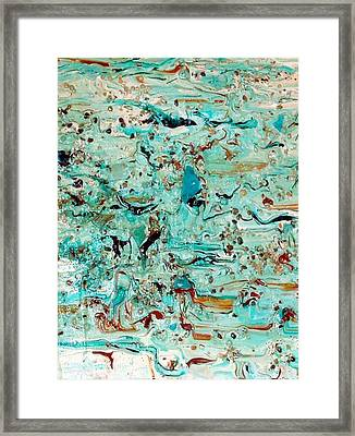Framed Print featuring the mixed media Sea-splash by Sherri  Of Palm Springs