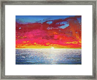Framed Print featuring the painting Sea Splendor by Mary Ellen Frazee