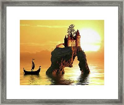 Sea Stack Castle Framed Print