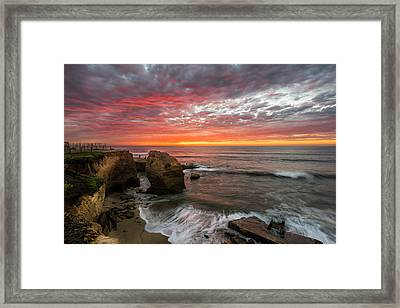 Sea Stack Sunset Framed Print