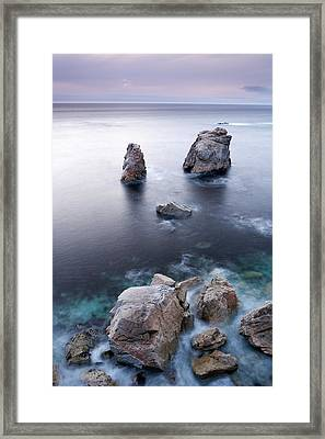 Sea Stacks Framed Print by Eric Foltz