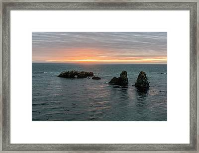 Sea Stacks In Sea Ranch Framed Print