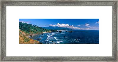 Sea Stacks Rock Formations, Cannon Framed Print by Panoramic Images