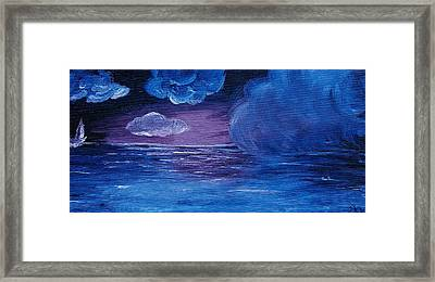 Sea Storm Framed Print by Jera Sky