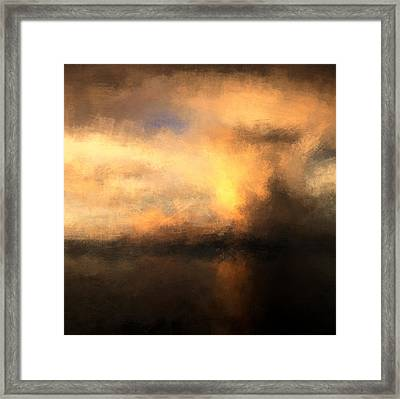 Sea Storm Framed Print by Lonnie Christopher