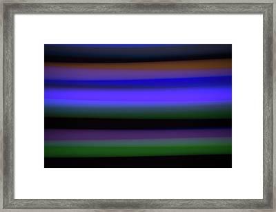 Sea Stripes Framed Print