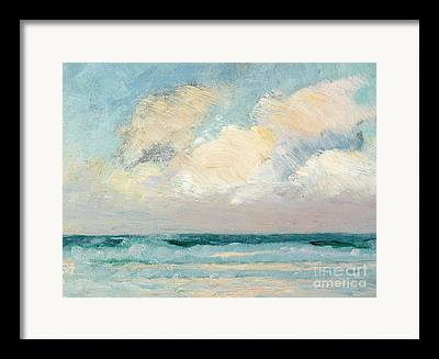 Sea Shore Paintings Framed Prints