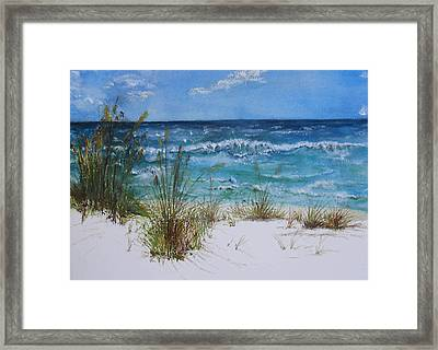 Framed Print featuring the painting Sea Study 08 by Sibby S