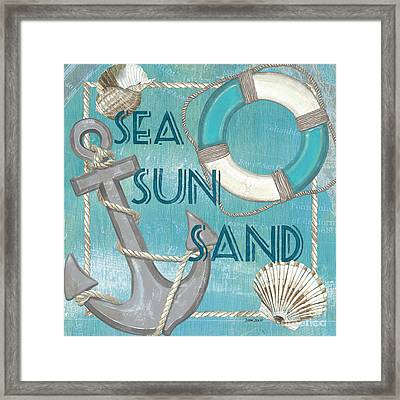 Sea Sun Sand Framed Print
